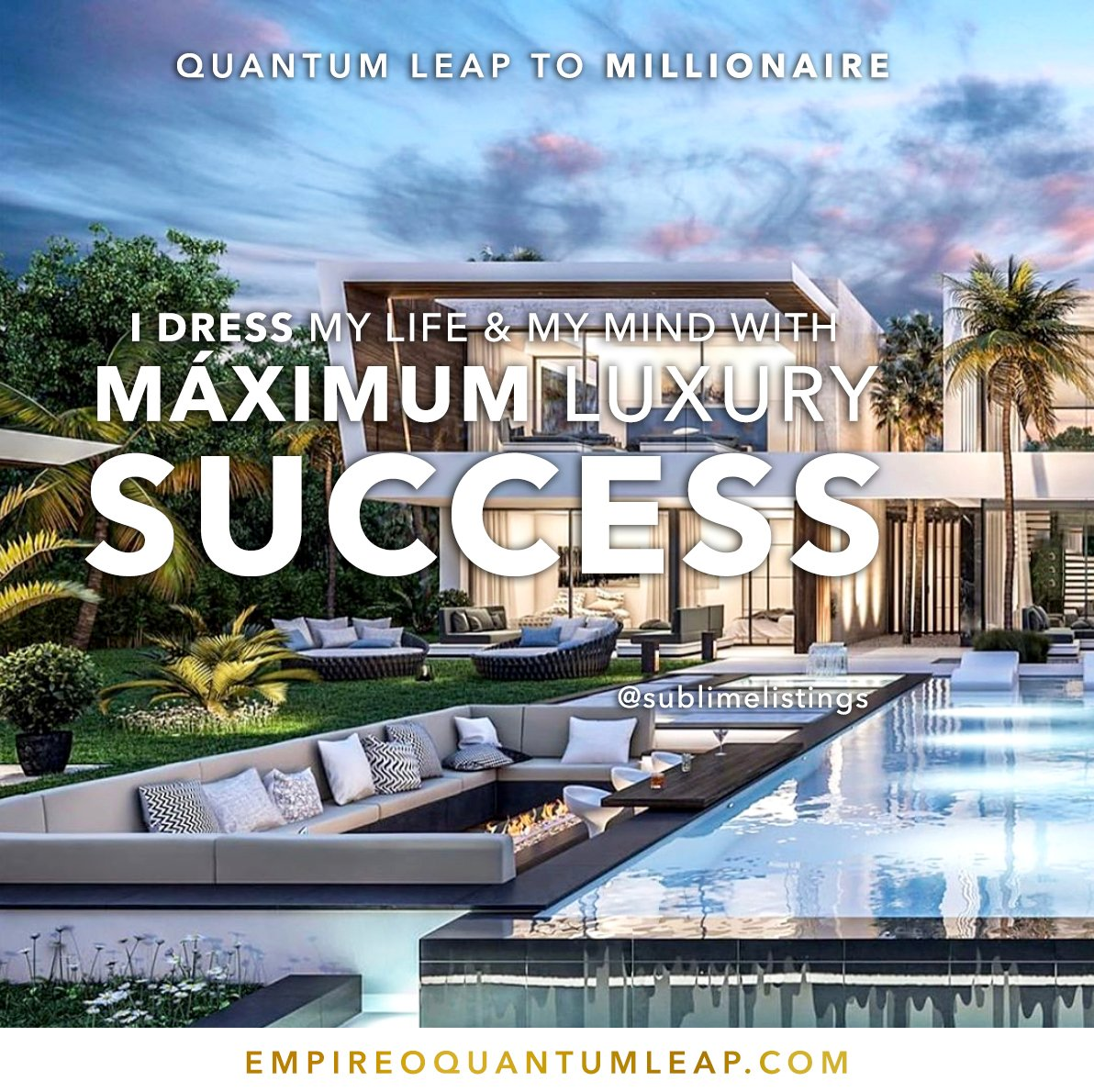 "DRESS your life and your mind with MAXIMUM luxury and SUCCESS. 🧠📽️💵🏦🕋  ""QUANTUM LEAP TO MILLIONAIRE""💰💎 ▶️ I want to know more about the program https://t.co/zfXarp0sbB https://t.co/u42d0DlDwq"