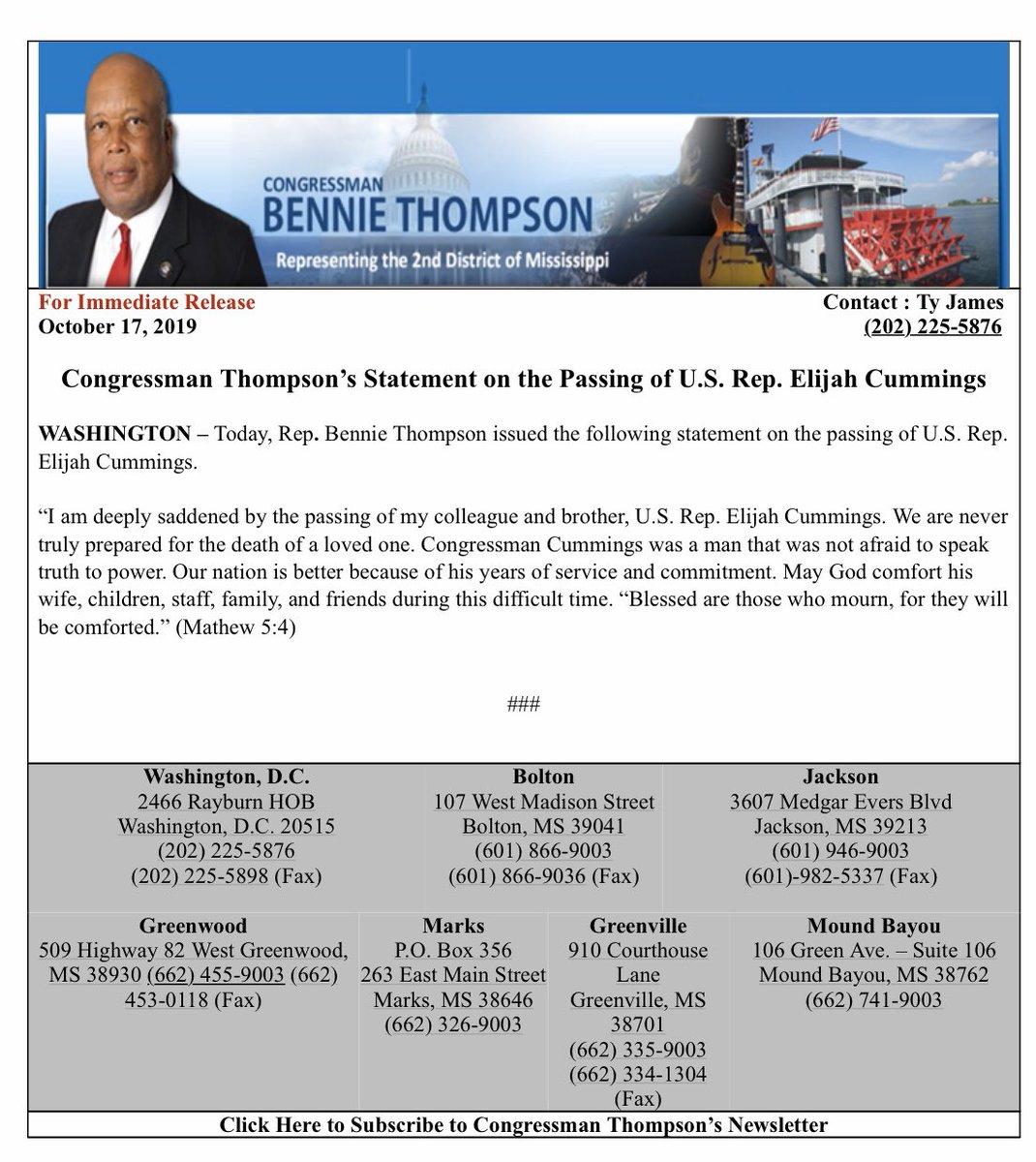 May U.S. Rep. Elijah Cummings Rest In Peace.