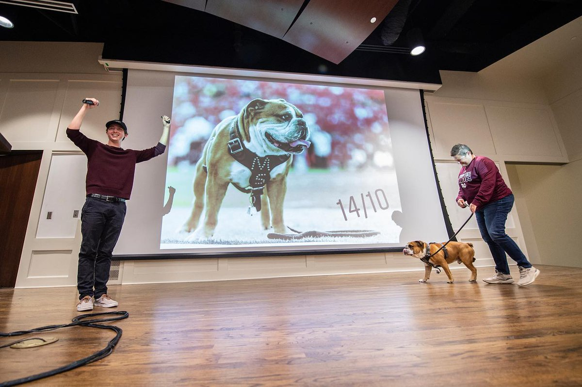 Our best boy, Jak, received a 14/10 from the @dogfather at Wednesday's @dog_rates event!  It's official, @BullyXXI is one of a kind.🐾 #hailstate #weratedogs #msstate