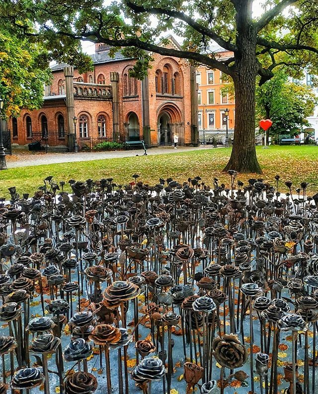 The IronRoses is a new art piece installed outside Oslo Cathedral. The project was intitiated by Tobbe Malm and Tone Mørk Karlsrud after seeing the sea of roses that grew outside the cathedral following the 22 July attacks in Oslo and Utøya in 2011. They… ift.tt/2BmmCUB