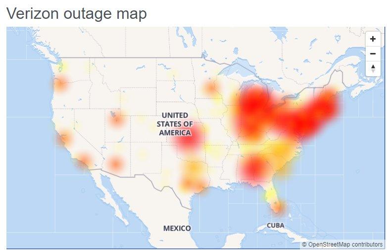 Verizon outage hits customers across the U.S.