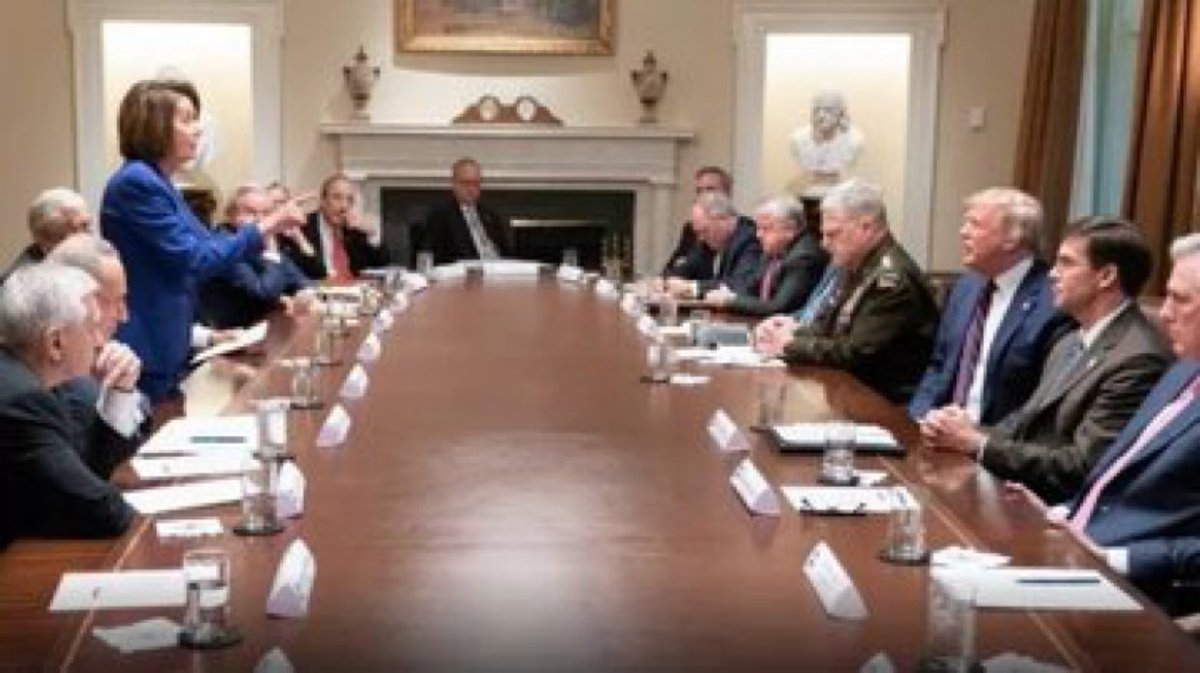 What I find amazing here is out of the 7 men on the other side of the table only 3 have not diverted their eyes. Even McCarthy is looking down. The General there is 💩 all over those tabs on his shoulder.
