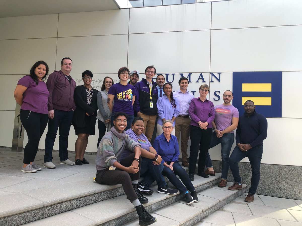 1/ LGBTQ youth who experience bullying deserve better. Bullying should have no place in our society. That's why @HRC is proud to join @glaad this #SpiritDay and go purple.