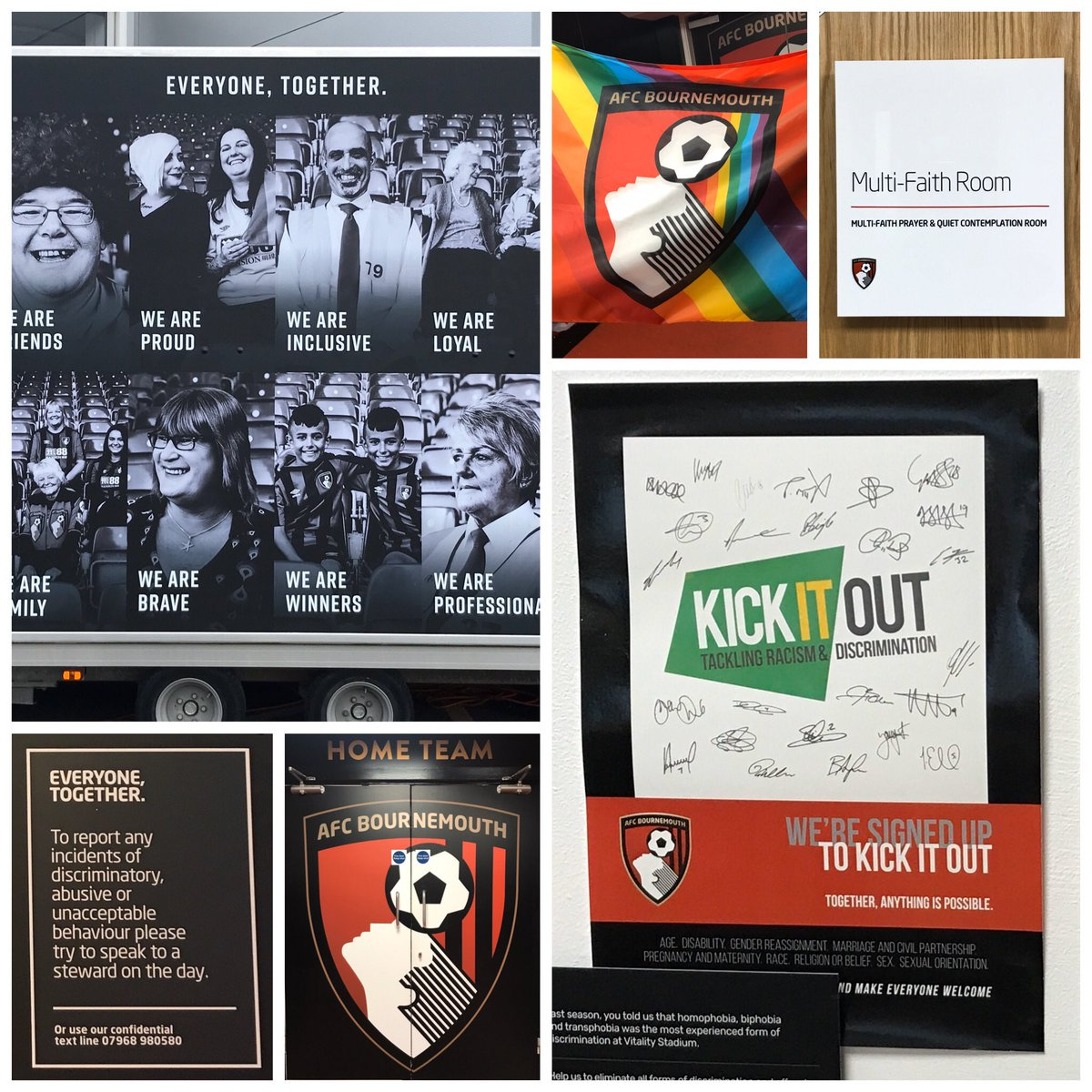Exceptional progress being made @afcbournemouth working towards the highest PL Equality Standard! Such a pleasure to support the club and @benabberstein on behalf of @kickitout! #everyonetogether #KickItOutGeneration @sophiecooktalks #EDI<br>http://pic.twitter.com/3ghmwlKyB8