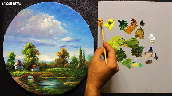Now on YouTube A ROUND OIL PAINTING Landscape BY Yasser Fayad https://t.co/ZW0R0xRXJD #oilpainting, #artist, #art, #paintings, #pleinair, #gallery, #drawing, #wildlifeart,  #arthistory https://t.co/fwF5FcTm9I
