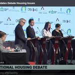 Image for the Tweet beginning: Federal Candidates Debate Housing Issues: