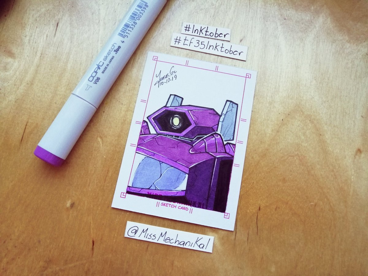 Another late Inktober drawing 😱Day.10 Shockwave@ConoceArtistas @artists_helping #inktober #Transformers #copic #copicwithus #Inktober2019 #Inktoberday9 #tf35inktober #shockwave