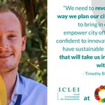 Image for the Tweet beginning: Timothy Blatch represents #CitiesWithNature at