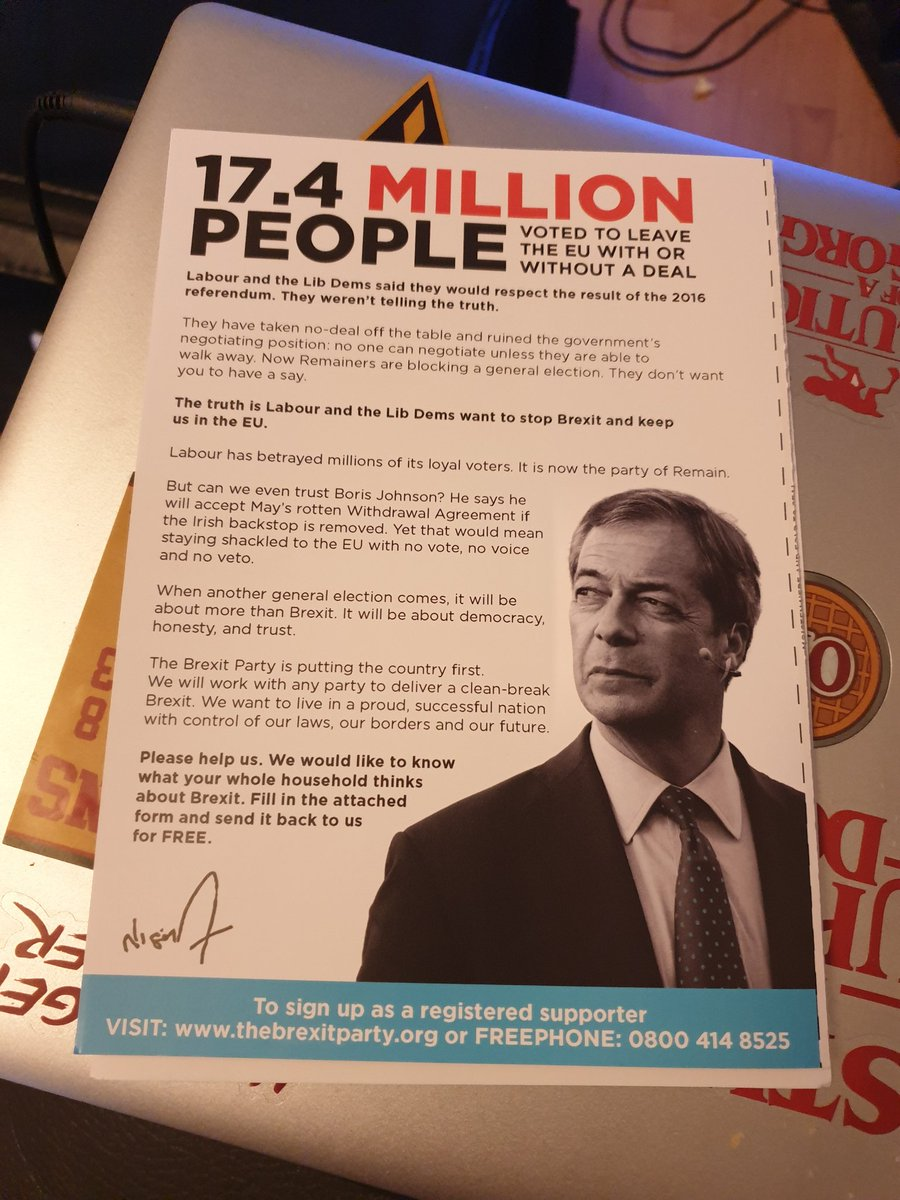 I have had a long day traveling from London and come home to this. I do not want @Nigel_Farage in my house. Stop wasting paper on this crap.