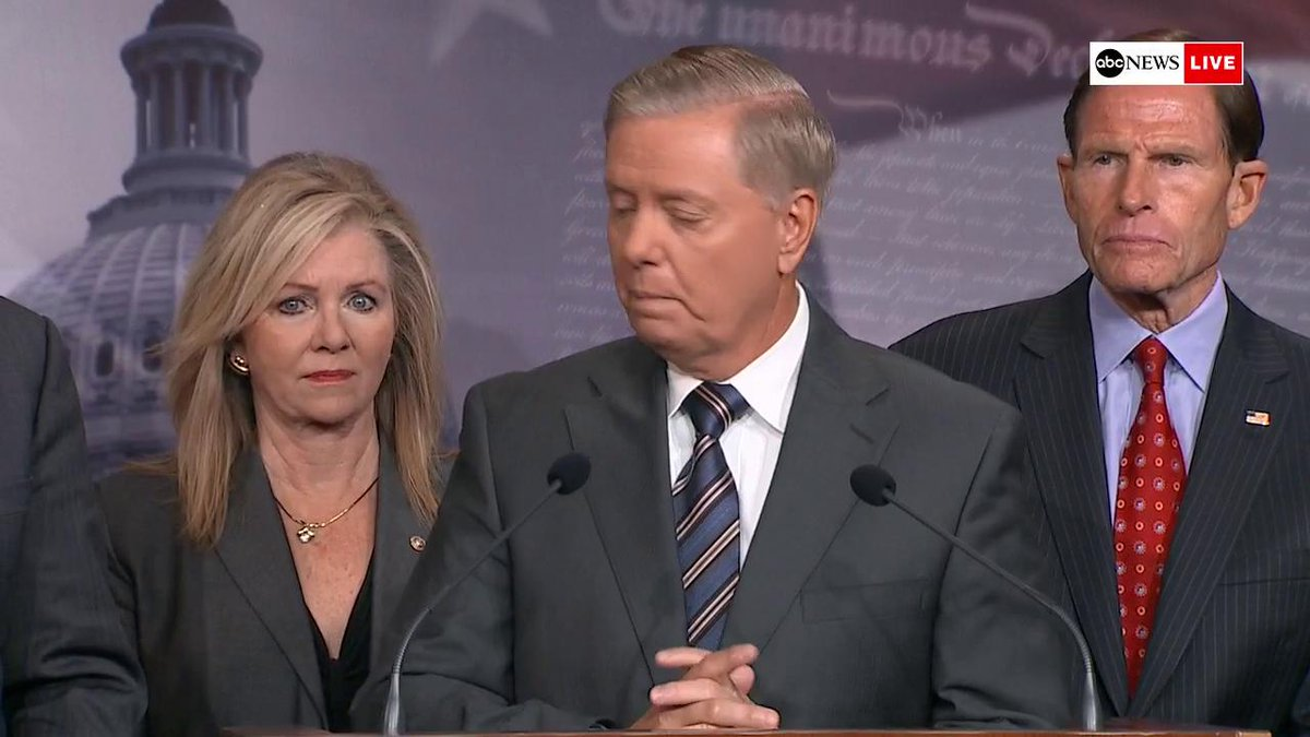 Sen. Lindsey Graham introduces bipartisan sanctions legislation against Turkey: We appreciate what the president did with sanctions against Turkey. Were here to add to it ... We will impose sanctions in the strongest measure possible. abcn.ws/2qoM0a9