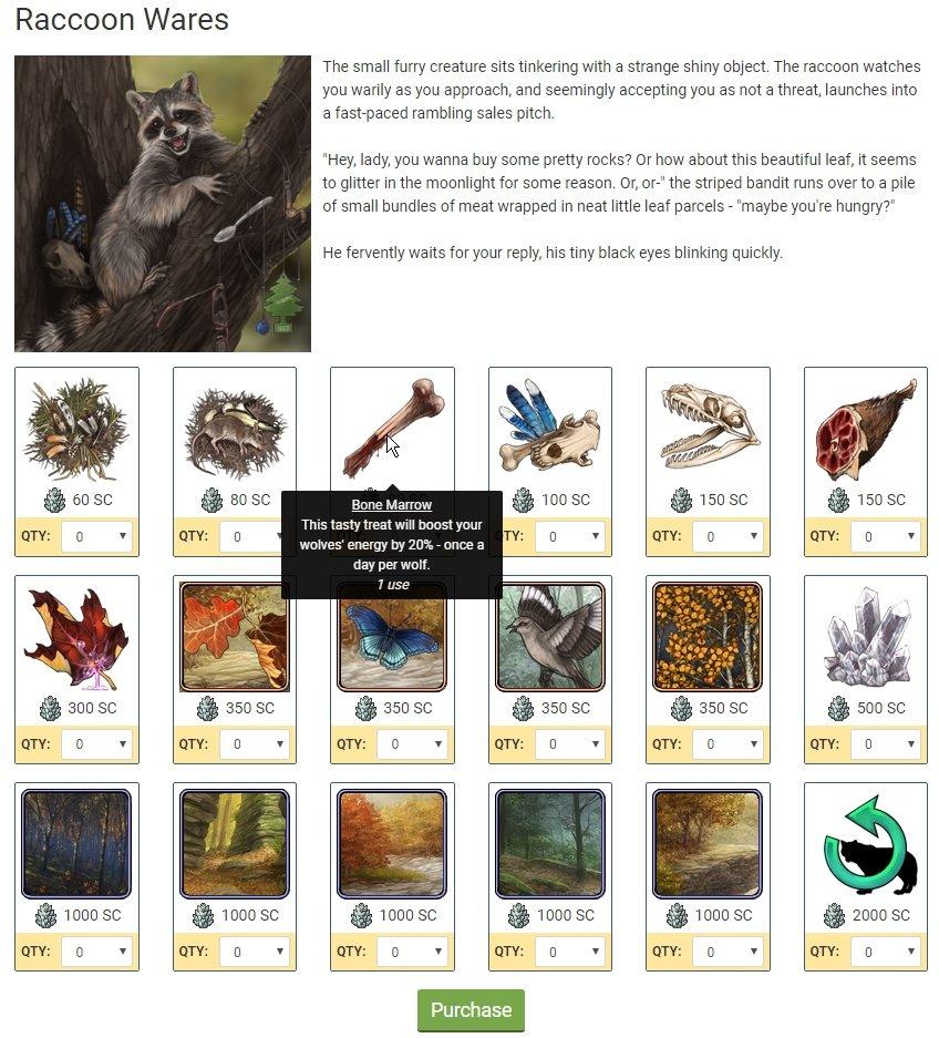 Have a sneak peek of #Wolvden's Raccoon Wares!