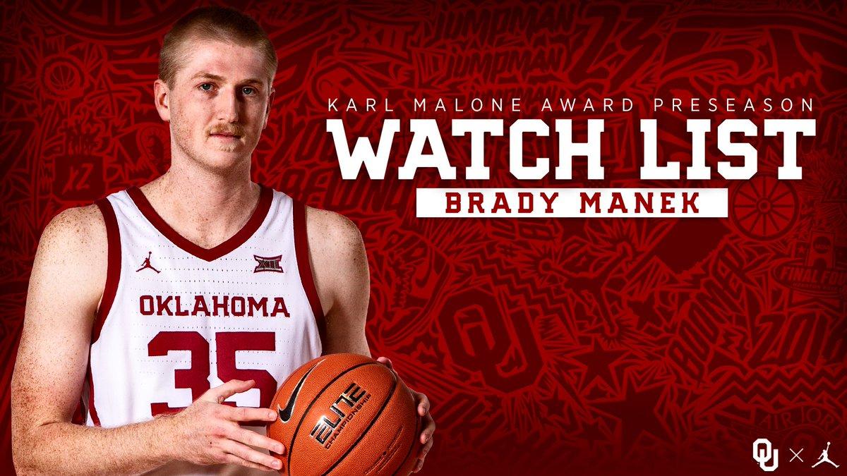 Brady Manek named to the Karl Malone Award watchlist