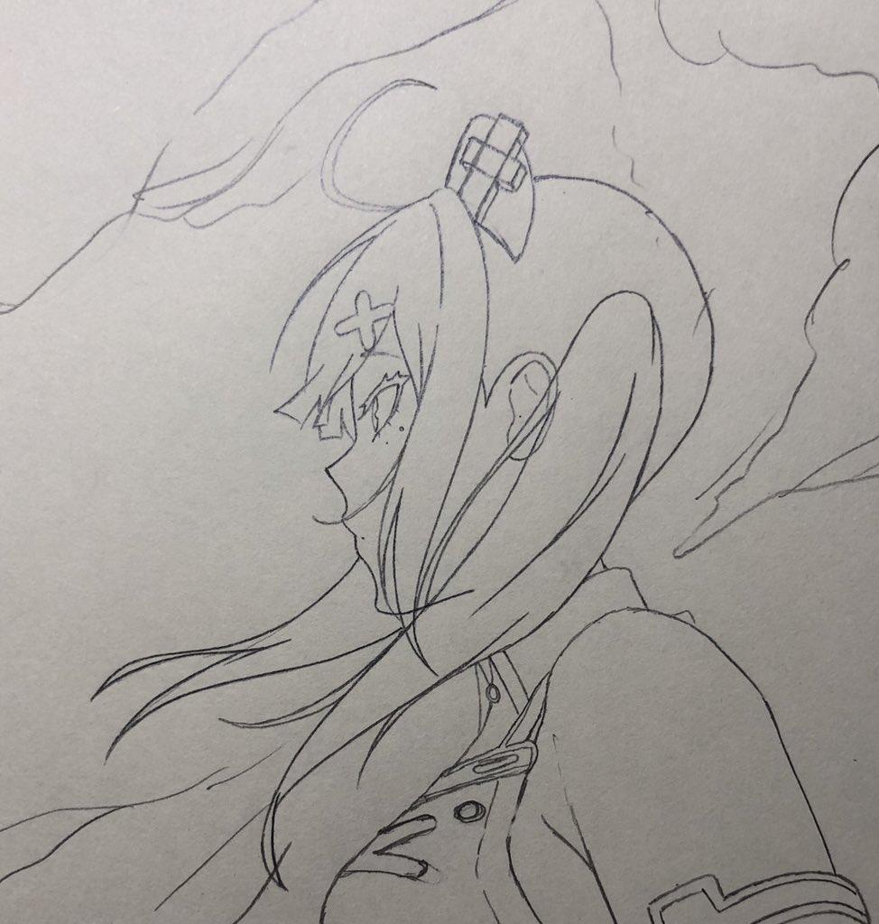 今描いてる絵の下書きです!いつもは健屋ちゃんの設定に寄せてるのですが、今回は自分の手癖に近いです本当は毎日絵をあげたいのですが、お仕事の都合でちょっと難しいです💦申し訳ありません🙇♂️