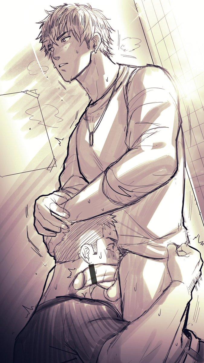 ノンケが男のフェラで腰がカクカク動いちゃったり、ガツガツ口にぶち込んだり、手つなぎラブラブ騎乗位セックスが性癖に刺されば是非毎秒投稿して♥ やだよぅ(なんか物足りなくて2枚描いときました♥