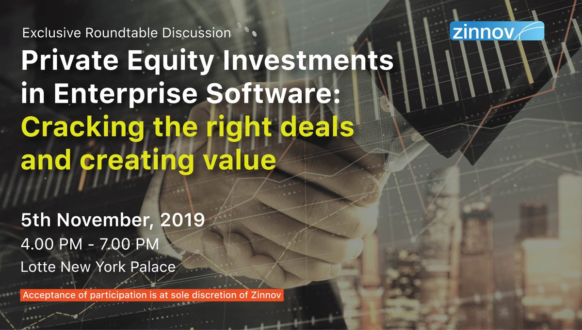 As #EnterpriseSoftware becomes a significant component of every #PE portfolio, what are the most promising areas in the industry for PE firms to invest in? Calling all PE leaders for our exclusive #ZinnovRoundtable on PE in New York Register here today: http://bit.ly/2OUrYOC