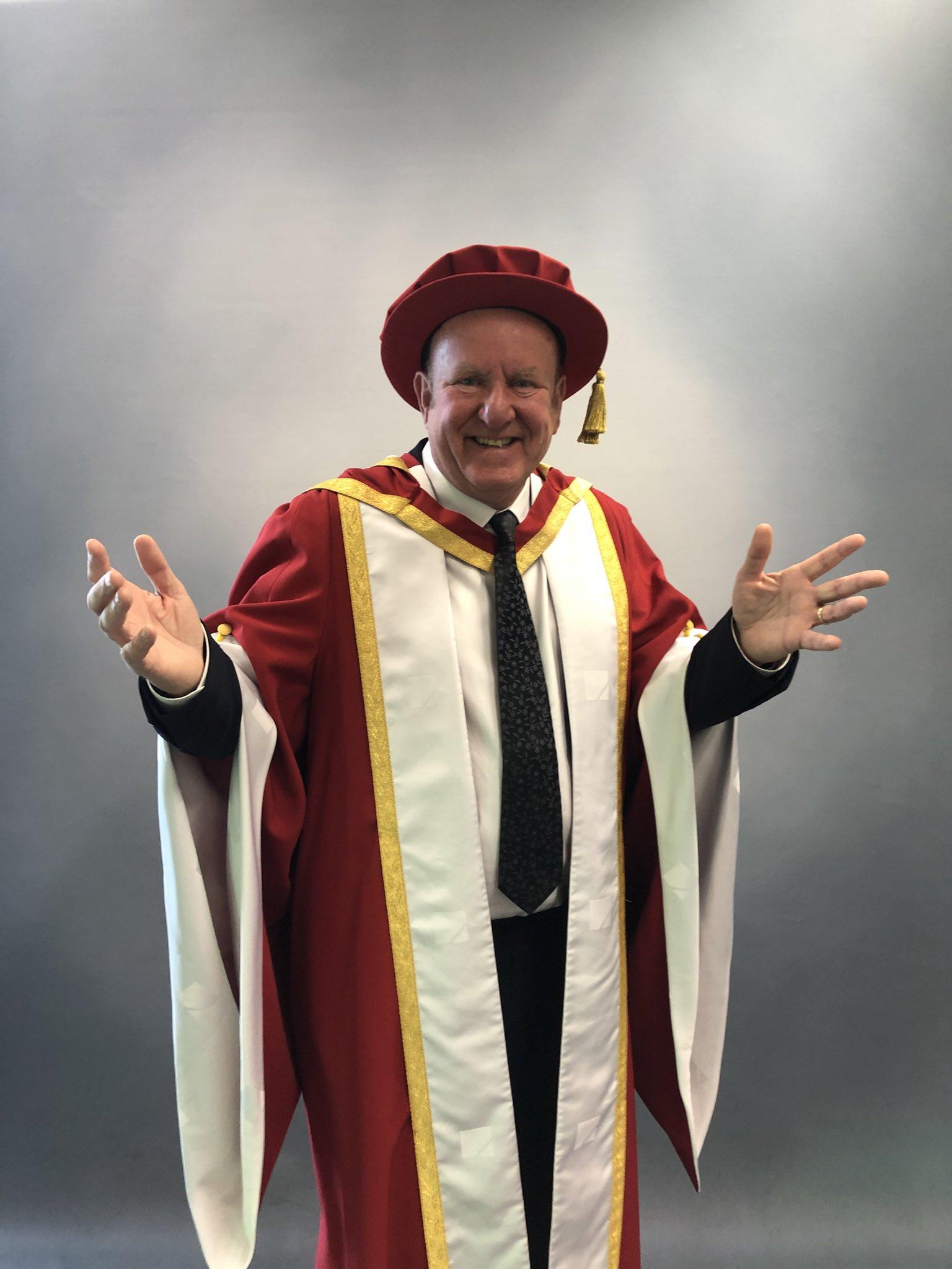 Ian Livingstone honourary degree at University of Suffolk