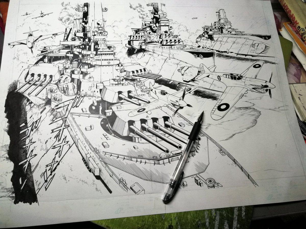 イギリス連邦軍中東砂漠艦隊。目が疲れてきましたわ。戦闘爆撃機はアメリカ供与のP40。