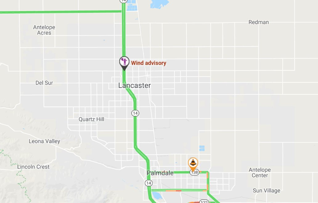 Image posted in Tweet made by Caltrans District 7 on October 17, 2019, 5:59 pm UTC