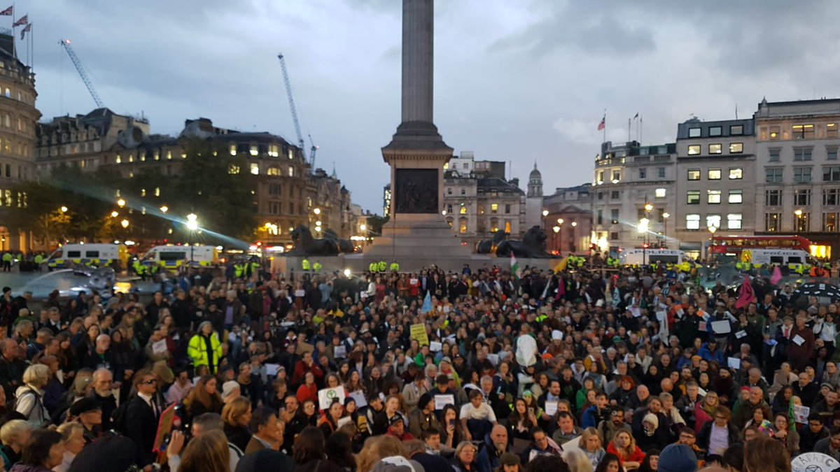 XR Professionals are at Trafalgar Square now in our 1000s.  We are engineers. We are lawyers. We are doctors. We are everyone.  Ecological and #Climatebreakdown will affect all of us and it will take all of us to demand and create the necessary changes.  #EverybodyNow<br>http://pic.twitter.com/F3hhV8M3x2
