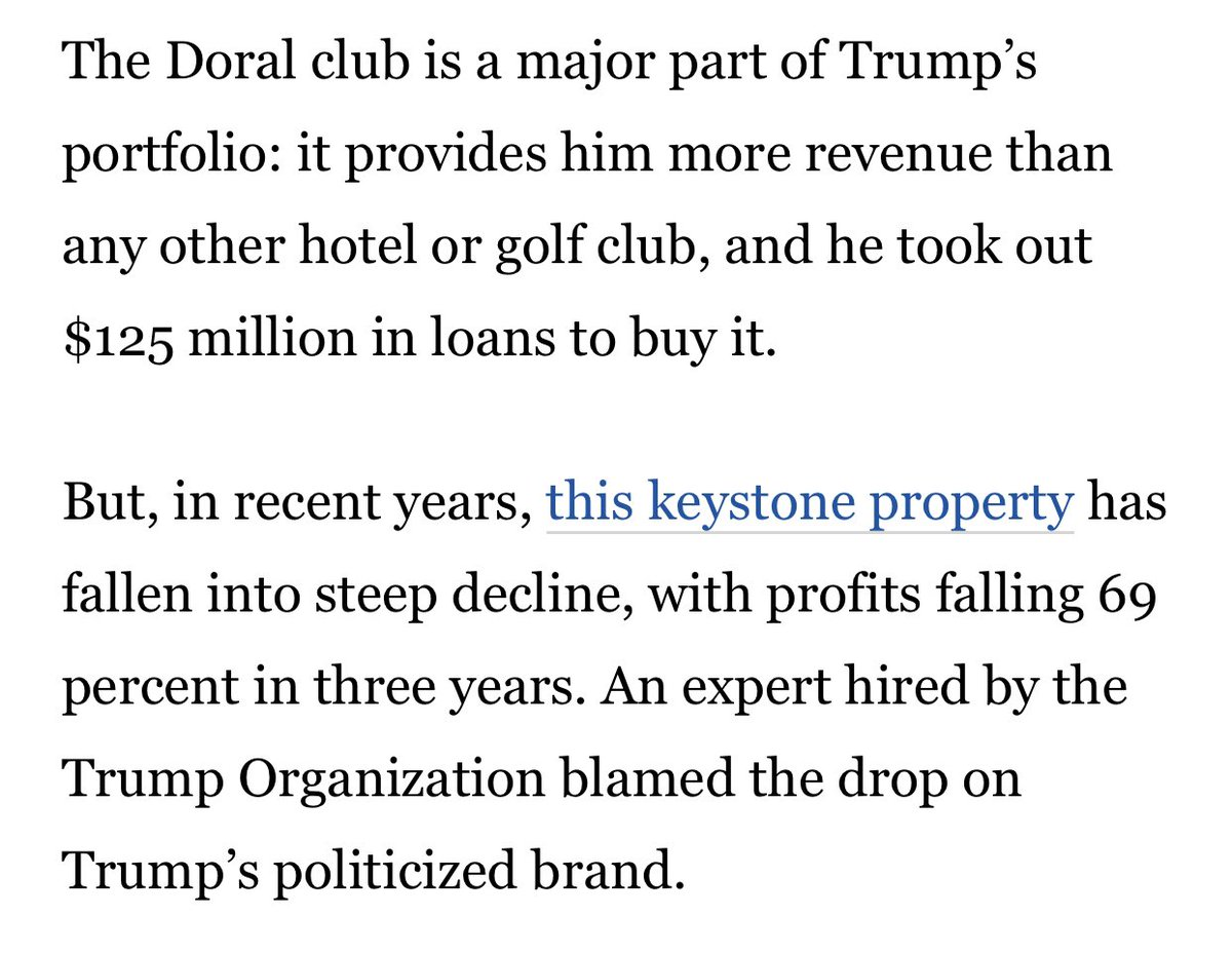 And this one will draw direct foreign spending into an underperforming Trump business. Wow and wow.