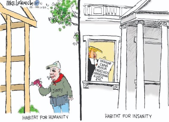Just a reminder that Jimmy Carter put his peanut farm in a blind trust.  According to @realDonaldTrump, he could've hosted a G-7 Summit there.  #EmolumentsClause