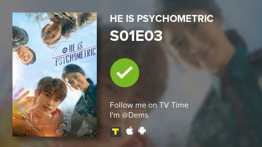Not dead, just on a drama mode.  I've just watched episode S01E03 of He is Psychometric! #heispsychometric  #tvtime  https:// tvtime.com/r/1cbgb    <br>http://pic.twitter.com/i29mxiihz8