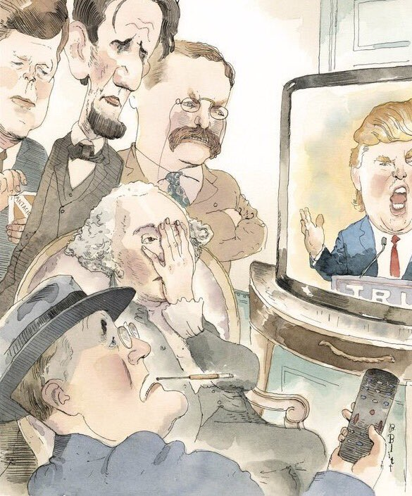 Replying to @EricWolfson: @realDonaldTrump #REMINDER To @realDonaldTrump:  History Is Watching.  #ImpeachTrump