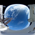 Image for the Tweet beginning: JAXA & Ricoh release 360-degree