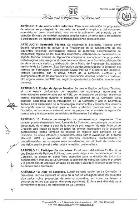 test Twitter Media - El @TSEGuatemala acuerda instalar la Comisión de Actualización y Modernización Electoral, instancia que se instala después de concluido el proceso electoral. https://t.co/913uS9yIh4
