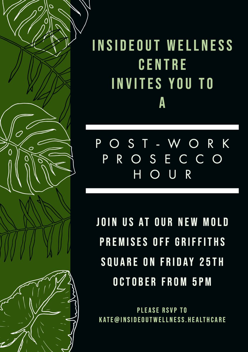For those of you I havent had the opportunity to invite yet, Im holding a post-work Prosecco hour next week (details below) for local businesses to pop in and see our new premises. Id love to see/meet more of you. Come and say hello! @nwalestweetsuk #nwaleshour
