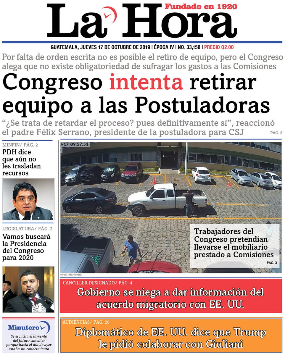 "test Twitter Media - PORTADA DE HOY: ""Congreso intenta retirar equipo a las Postuladoras"" https://t.co/8fKasaquZP"