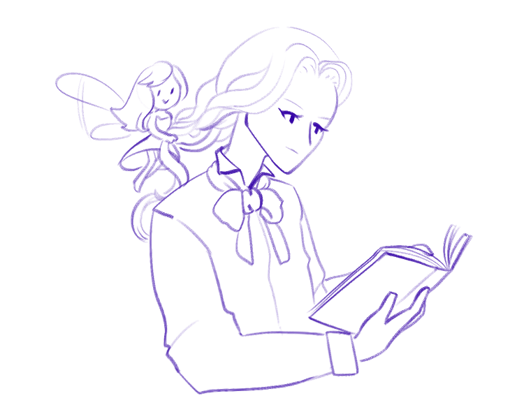 kept thinking about alucard's fairy familiar braiding his hair. well bye