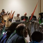 Image for the Tweet beginning: Today, Pope Francis forty indigenous