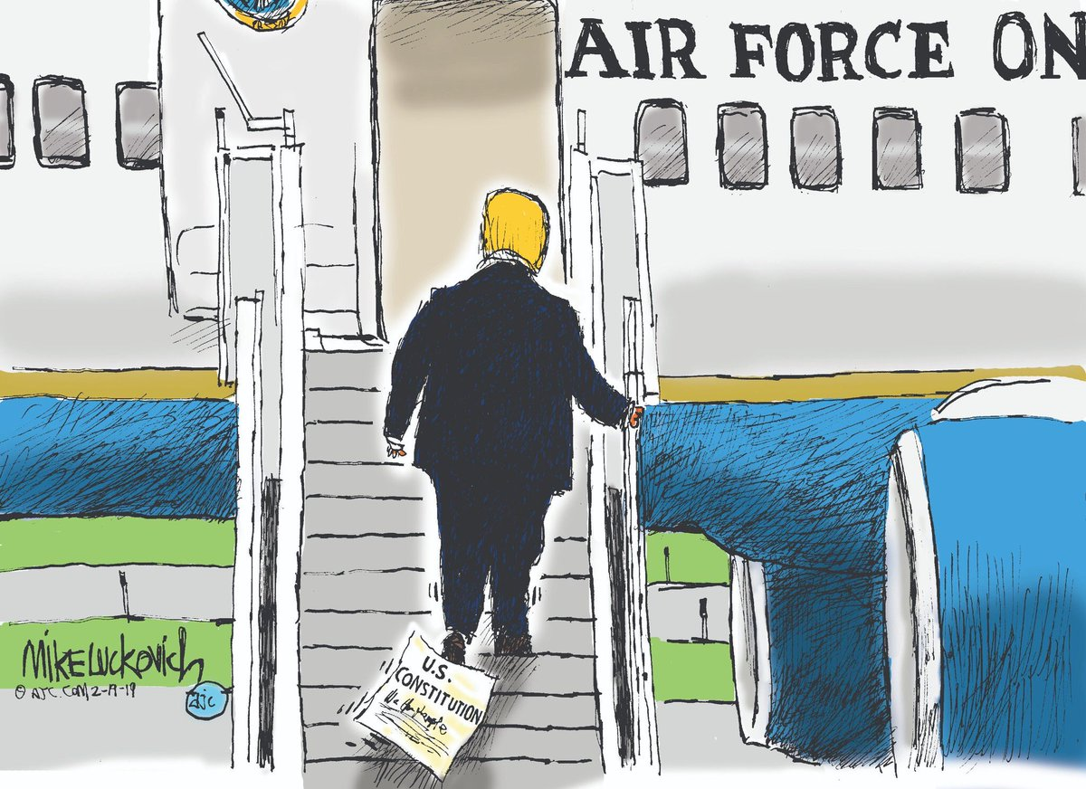 The only defense @realDonaldTrump could have for violating the Constitution's #EmolumentsClause is that he *still* hasn't bothered to read the document he swore to preserve, protect, & defend.  As with everything else, he only cares about himself & lining his own pockets.