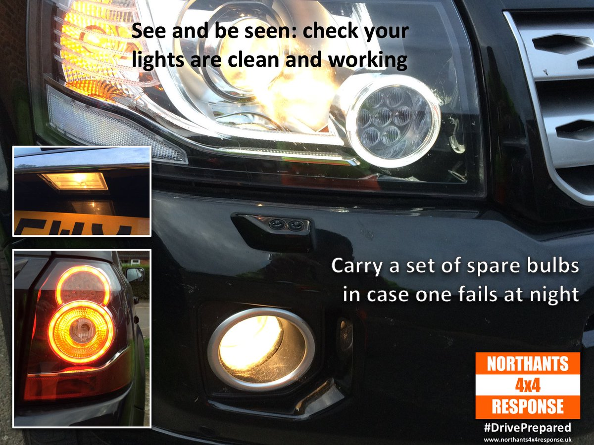 While we're talking about the clocks going back (NEXT weekend) it's getting dark in the evenings and we've noticed a lot of one-eyed monsters on the road: check your lights are working so you can see AND BE SEEN 💡 We're sure @northants_SRT would appreciate it 🙂 #NorthantsHour