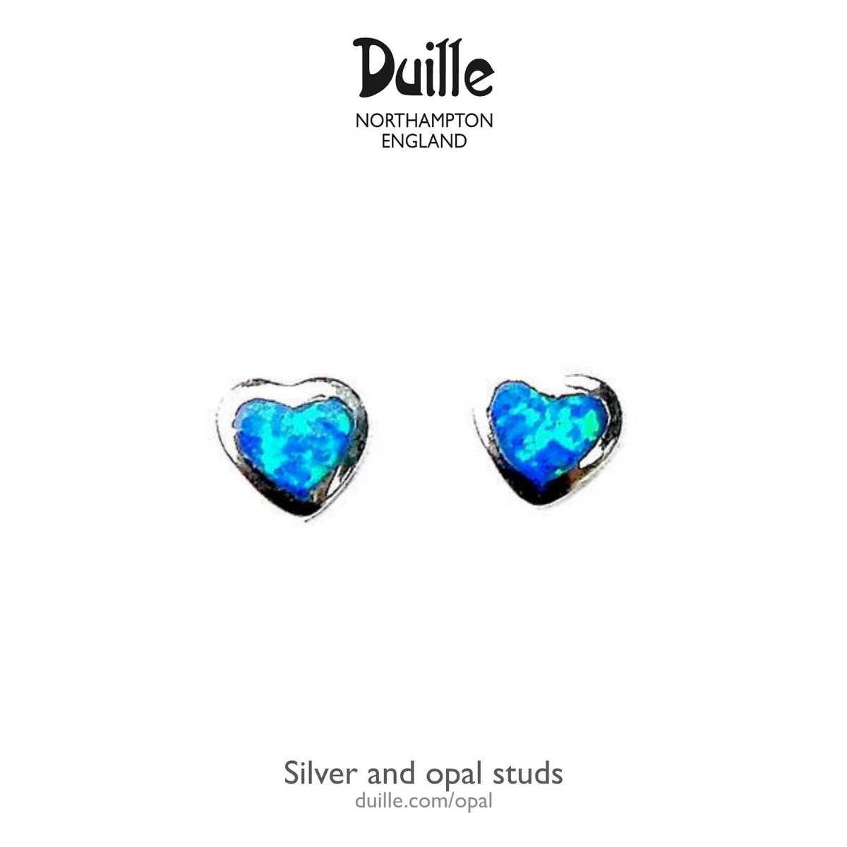A little blue sparkle to remind you of summer? In silver and opal these are perfect. #northantshour duille.com/opal