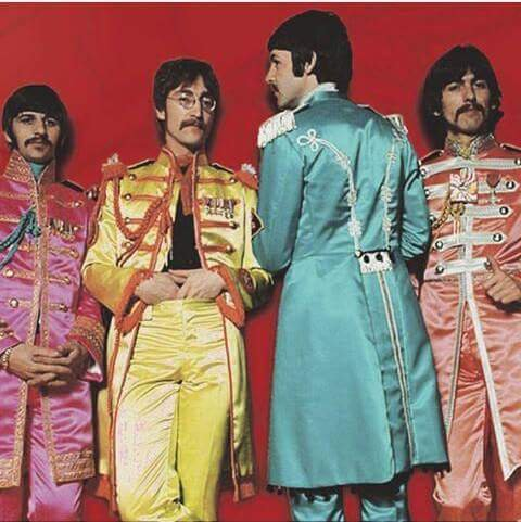 The #Beatles Test photo for Sgt Pepper back cover via @best_thebeatles