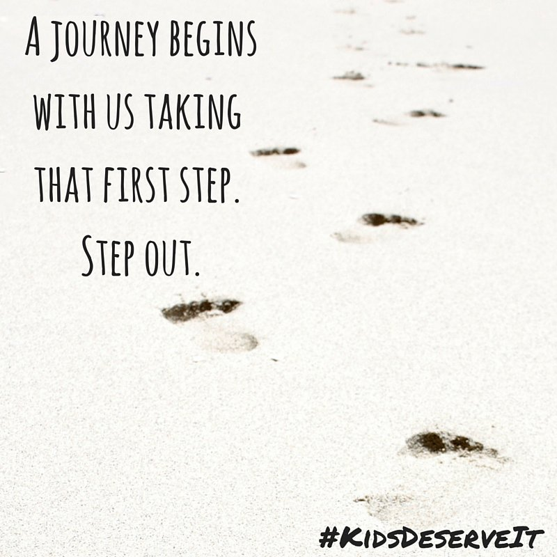 A journey begins with us taking that first step. Step out. #KidsDeserveIt #litechsummit