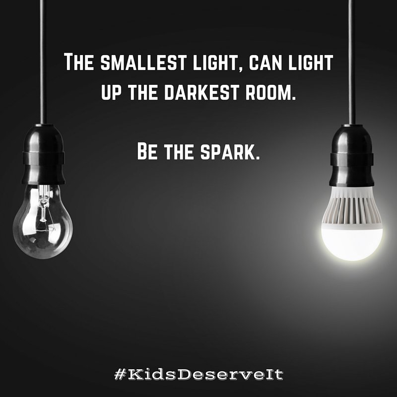 The smallest light, can light up the darkest room. Be the spark. #KidsDeserveIt #litechsummit