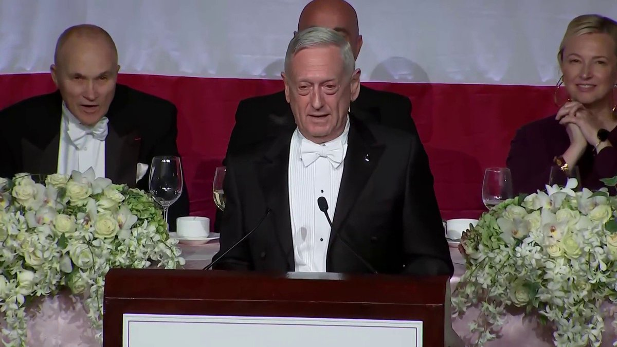 """I'm not just an overrated general. I'm the most overrated general,"" Mattis says. ""I'm honored to be considered that by Donald Trump because he also called Meryl Streep an overrated actress. So I guess I'm the Meryl Streep of generals, and frankly that sounds pretty good to me."" https://t.co/Hzpe5lUeje"