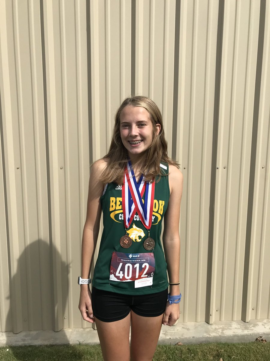 @BenbrookBobcats Whitney Thomas - 6th place overall in 9-4A District XC!! We are proud of you!!!!