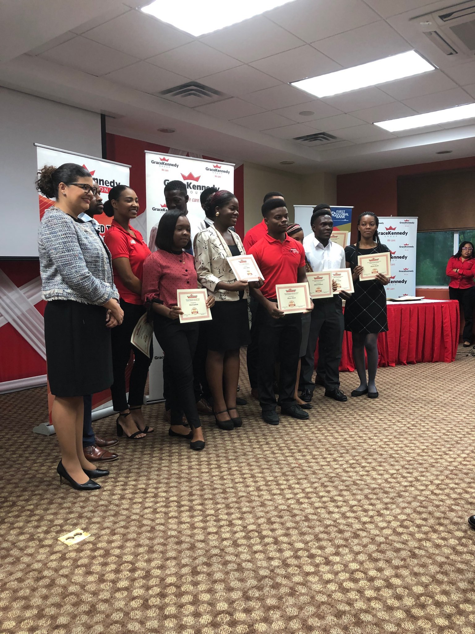The J$1.2 million GraceKennedy Rafael Diaz Scholarship is offered to UWI Business students in the faculty of Social Sciences and issued J$400k per year for three consecutive years.