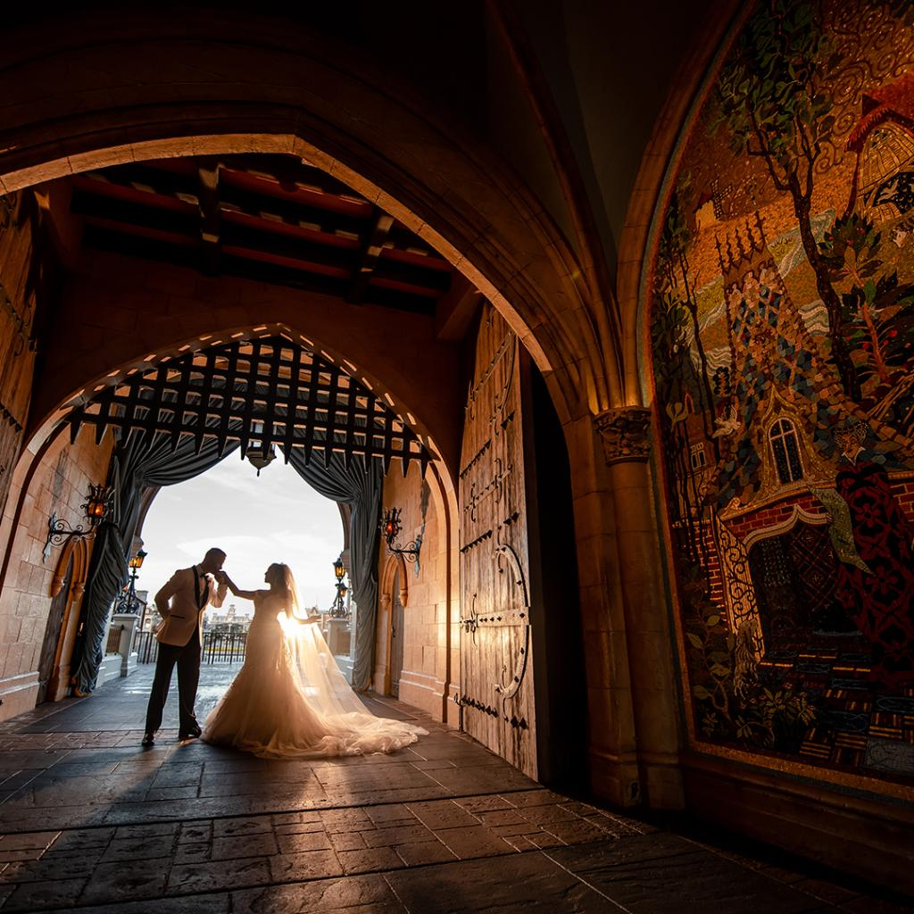 Every once in a while, right in the middle of an ordinary life, love gives us a fairy tale. ✨💕#DisneyWeddings 📸 : Disney Fine Art Photography