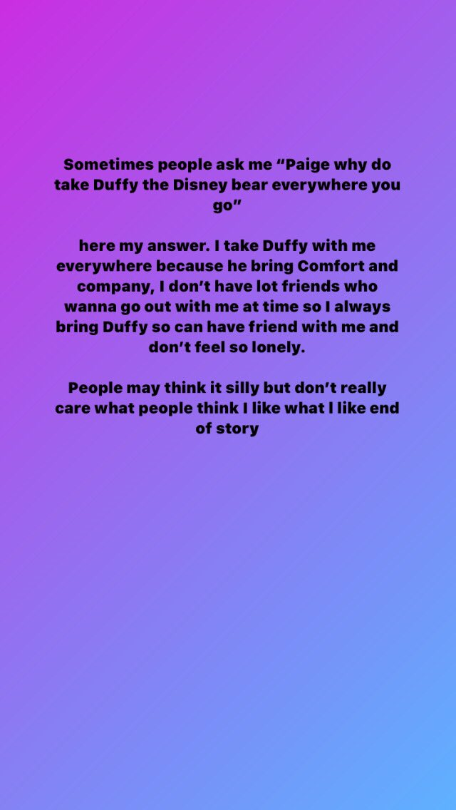 Here is a question I get all the time when I have Duffy the Disney bear out and about with me #duffythedisneybear #BeYourself #disneygirl