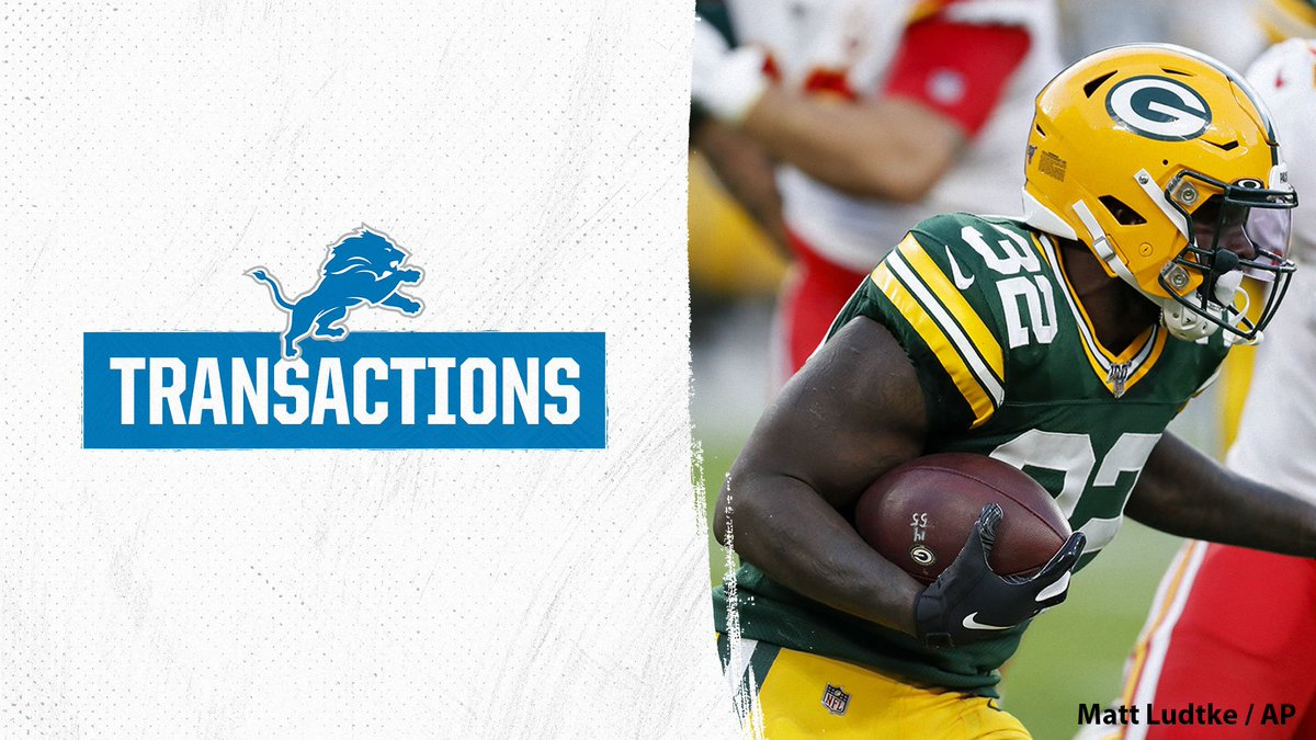 Former Packers RB Tra Carson claimed off waivers by the Lions