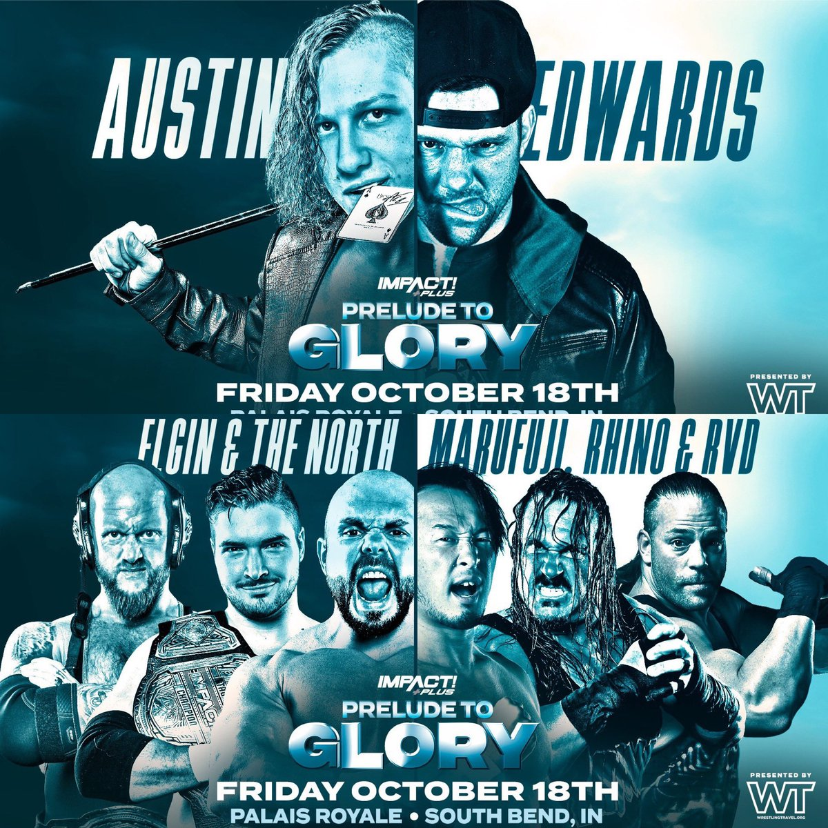 In the South Bend/Chicago area? Come out TOMORROW NIGHT for @IMPACTWRESTLING's #PreludeToGlory, presented by @WrestlingTravel!  Use the link below for 50% tickets! My gift to you as the sponsor. 😎  🎟: https://t.co/hBtB9RcNrR https://t.co/VKESgLf8LS