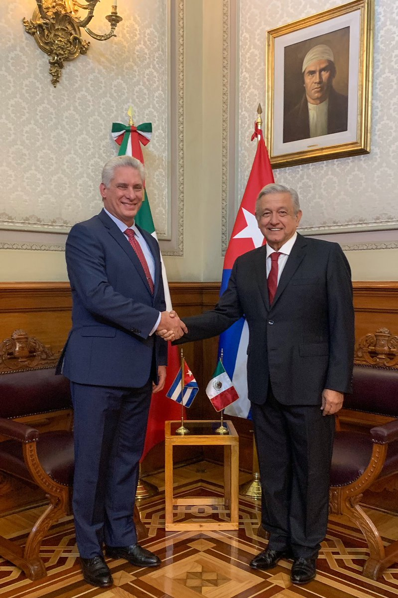 Sostuve un agradable encuentro con el presidente de Cuba, Miguel Díaz-Canel. Desde siempre, nuestros pueblos mantienen relaciones de hermandad, y hasta en los momentos más difíciles hemos sabido respetarnos mutuamente y ser amigos de verdad.