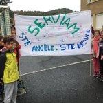 Image for the Tweet beginning: Visite de l'école sainte Angèle