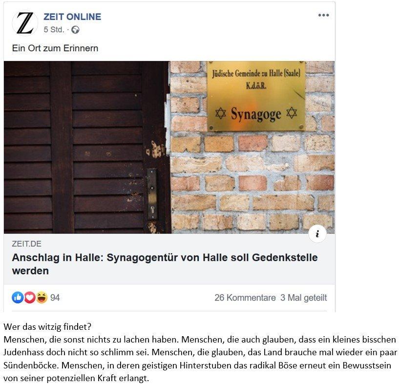.@neustart19 @spdde @SPDbt @SPD_LSA#HalleWas ist nur so witzig daran? Nichts. Gar nichts.Man sollte meinen, dass mit der Einführung von Lachsmileys das Beiträgebewerten an die Vollidioten delegiert wurde.
