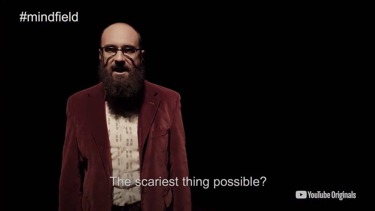Bringing his passion for science to investigate human behavior, @tweetsauce  returns in a #MindField  Special to find the scariest thing possible. Coming to you on 10/24. Check out the trailer here:  http://bit.ly/MindFieldTrailer  …